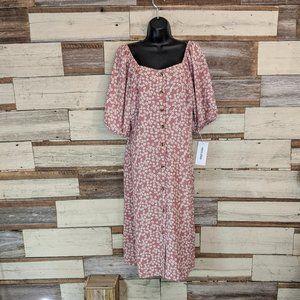 Mimi Chica Button Off Shoulder Down Dress NWT  XL